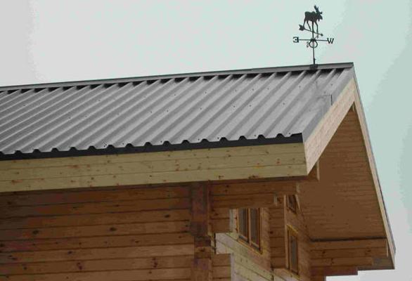 Фото: Крыша из профнастила С44
