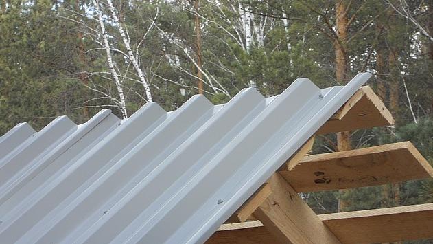 Фото: Крыша из профнастила НС 44 ТУ