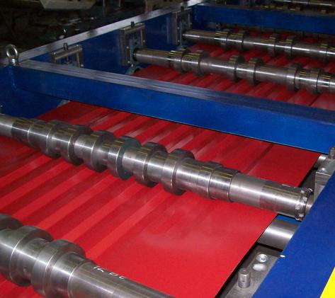 Фото: Производство профнастила - станок для изготовления