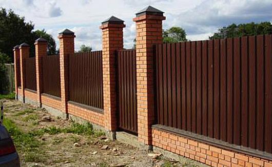 Фото: Забор из профнастила С20