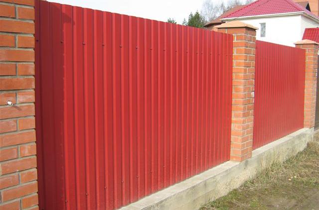 Фото: Забор из профилья С21