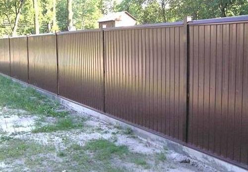 Забор столб профнастил своими руками фото 467