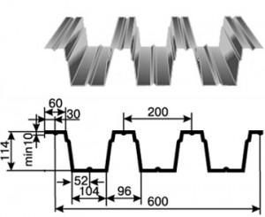 Фото: Профнастил Н114, габаритные размеры и параметры профиля