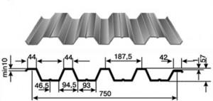 Фото: Профнастил Н57, габаритные размеры и параметры профиля