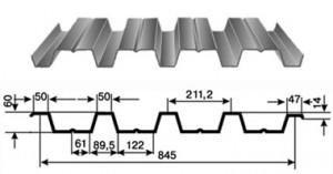 Фото: Профнастил Н60, габаритные размеры и параметры профиля