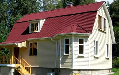 Фото: Дом с ондулиновой крышей