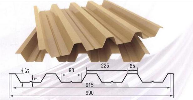 Фото: Профнастил Н57 - размеры, вес и вид материала в разрезе