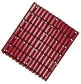 Фото: Расположение саморезов на кровле из металлочерепицы