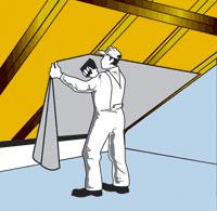 Фото: Установка пароизоляции на крышу из металлочерепицы