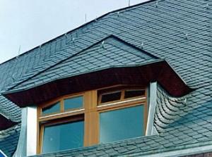 Фото: Кровля крыши из природного сланца