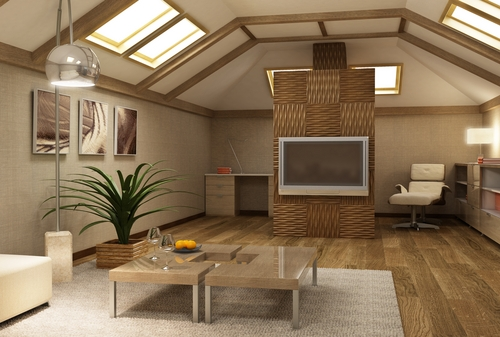 Фото: Мансарда в доме, вид изнутри