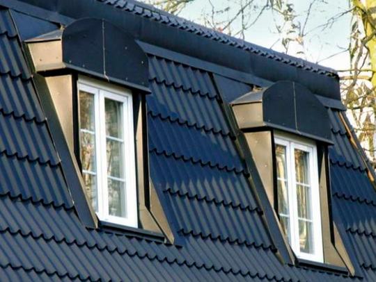 Фото: Деревянные мансардные окна на крыше