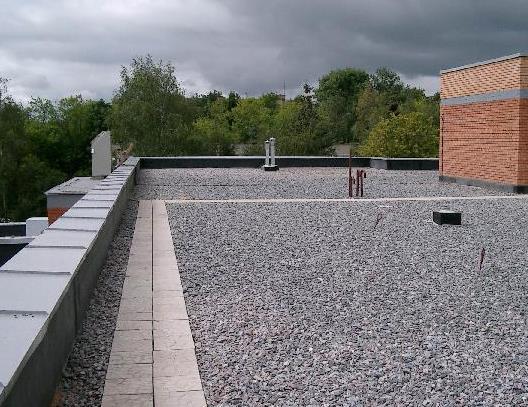 Фото: Плоская крыша - вид сверху